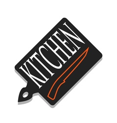 A cutting board and knife vector image vector image