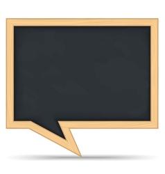 Blackboard speech bubble vector