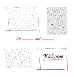 hand-drawn doodle polka dot seamless pattern vector image