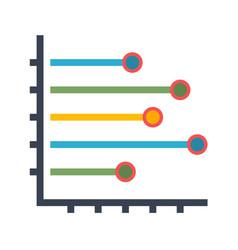 histogram flat icon vector image