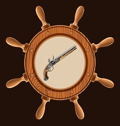icon pirate pistol vector image vector image