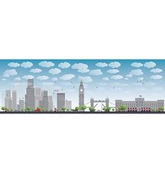 London skyline with skyscrapers vector image