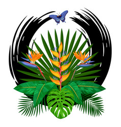 tropical bouquet print vector image vector image