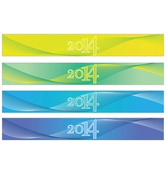 2014 Banners vector image