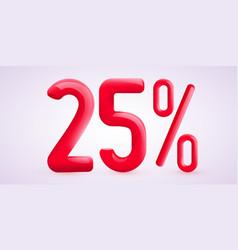 25 percent off discount creative composition 3d vector