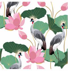abstract a crane bird on a white vector image