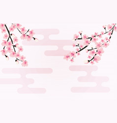 abstract floral sakura flower japanese natural vector image