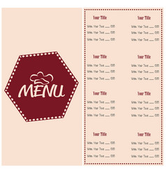 abstract menu presentation vector image