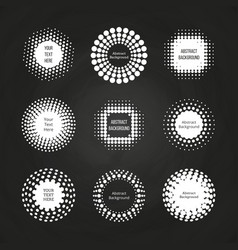 Abstract round dotted banners - halftone labels vector