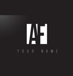 Af letter logo with black and white negative vector