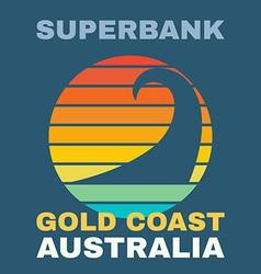 Australia surf t-shirt graphics vector