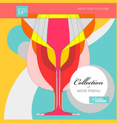 background for menu covers poster for wine vector image