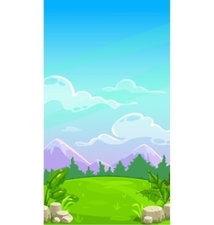 Beautiful mountain meadow landscape vector