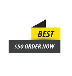 Best labels black yellow vector