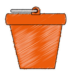 Bucket pot isolated icon vector