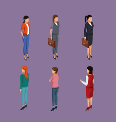 business womens 3d vector image