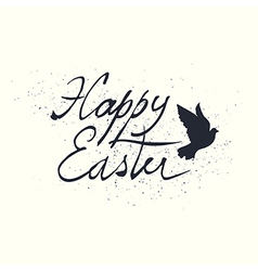 calligraphic easter lettering vector image