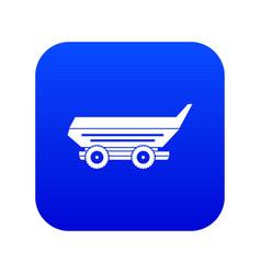 car trailer icon digital blue vector image