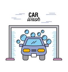 car wash clear auto shampoo water bubble vector image