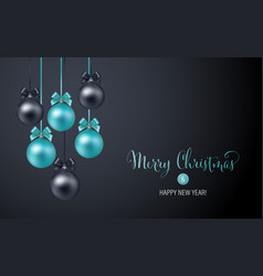 christmas background with blue and black evening vector image