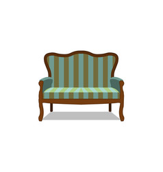 classic sofa icon front view isolated vector image