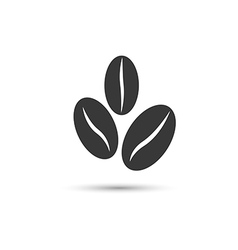 Coffee beans icon vector image