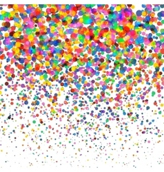 Colorful Confetti isolated on Transparent square vector
