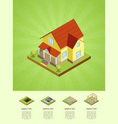 Construction stages of countryside house vector