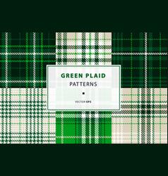 emerald green plaid set vector image