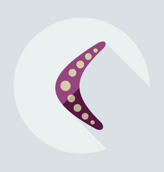 Flat modern design with shadow icons boomerang vector
