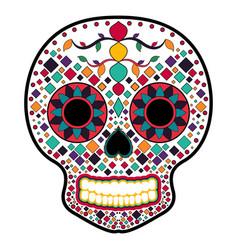 Floral ornamente head skull day of the dead vector
