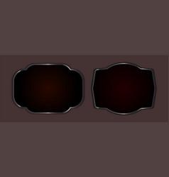 Frame with edging dark color set vector
