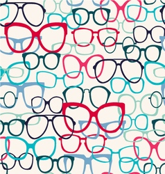 Glasses pattern Sunglasses Silhouettes vector
