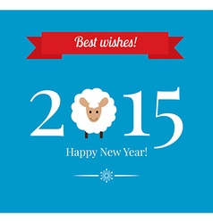Happy New Year greetings card or background vector image