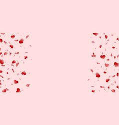 heart frame isolated pink background red hearts vector image
