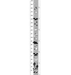 height chart in minimalistic scandinavian vector image