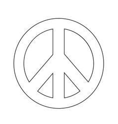 hippie peace symbol icon vector image