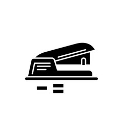 Hole puncher black icon sign on isolated vector