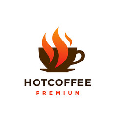 hot coffee logo icon vector image