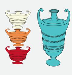 image of vintage amphorae vector image