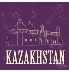 Kazakhstan Retro styled image vector