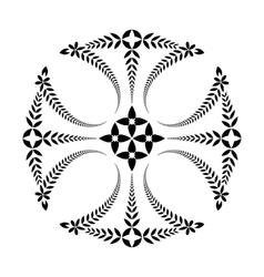 Laurel wreath tattoo Cross black ornament vector