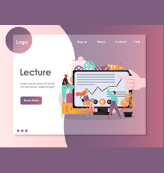 lecture website landing page design vector image