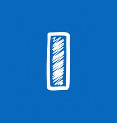 Letter i logo on blueprint paper background vector