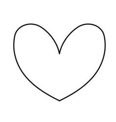 line cute heart to love symbol design vector image