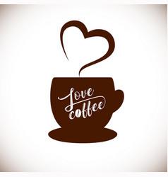 love cofee aroma heart vector image