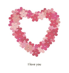 Love postcard i love you vector image
