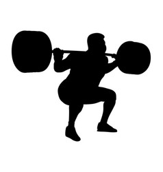 Male powerlifter competition vector