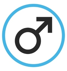 Male Symbol Flat Rounded Icon vector image