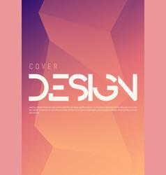 Minimalist gradient geometric cover design vector